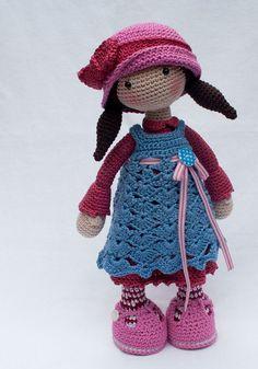 Ganchillo patrones para muñeca CELINE Deutsch por CAROcreated ♡