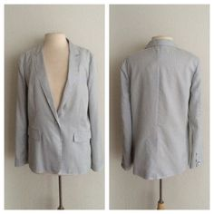 """HPrag & bone silk blazer rag & bone silk blazer. A must have for any woman's wardrobe! Brand new with tags! Size 10. Measures 28"""" long. The front has a button closure. There are buttons on the cuffs as well. This is lightweight. Navy/ white color combination  No trades. Poshmark onlyI am very open to fair offers! rag & bone Jackets & Coats Blazers"""