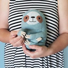 Crochet Amigurumi Ollie The Sloth Crochet pattern by Irene Strange - Crochet Animal Patterns, Crochet Patterns Amigurumi, Crochet Animals, Amigurumi Doll, Crochet Dolls, Crochet Gifts, Love Crochet, Single Crochet, Crochet Sloth