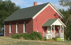 Mount Zion Brick Church in Richardson County, Nebraska.
