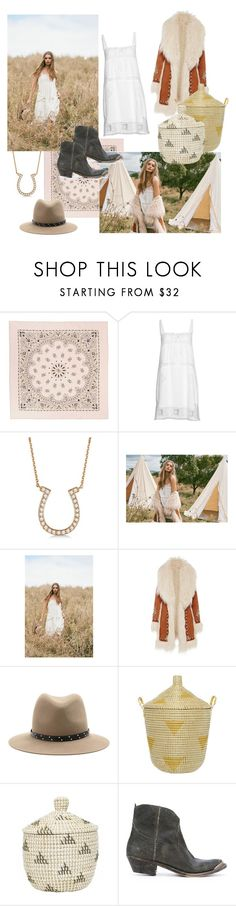 """through the fields we go"" by do-not-disturb ❤ liked on Polyvore featuring Manipuri, Allurez, Spell & the Gypsy Collective, rag & bone, Olli Ella and Golden Goose"