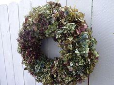 Hydrangea Wreath  Indoor Wreath  Dried Wreath  Shabby Chic
