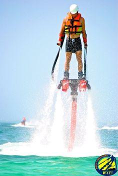 Powered by a jet ski