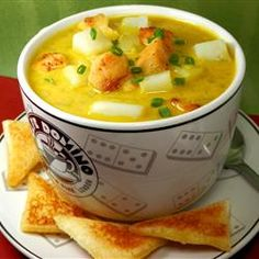 Jennifer's Thai Curried Peanut Soup, photo by Seekery