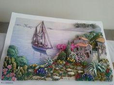 Aysel hanımın kağıt rölyef çalıması-Sümbül Eldek Art Diy, Art N Craft, Art Quilling, Shower Dresses, Bizarre, Painting Inspiration, Decoupage, Polymer Clay, Projects To Try