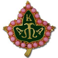 Alpha Kappa Alpha Sorority Ivy Lapel Pin