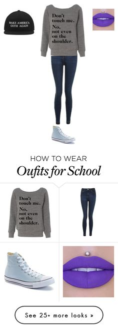 """""""My mood at school"""" by viviana-lahr on Polyvore featuring Topshop, Converse and Jeffree Star"""