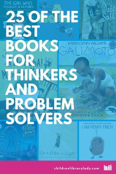 These recommeded picture books promote independent thinkers. They illustrate problem-solvers who develop creative ideas, make connections and are critical and creative thinkers. Thinking In Pictures, Wordless Picture Books, Creative Thinking Skills, Learner Profile, Lynn Williams, Temple Pictures, Hidden Figures, Kids Lighting, Three Kids