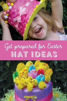 3 fabulous, unique ideas for making Easter hats for this year's Easter hat parade. Crazy Hat Day, Crazy Hats, Hat Crafts, Crafts To Do, Diy Halloween, Diy St Valentin, Easter Hat Parade, Easter Crafts, Easter Ideas
