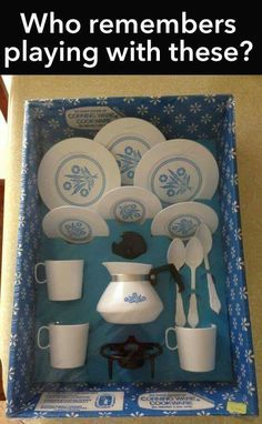 I loved playing with these little dishes growing up