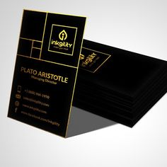 Gold Foil with gold edges on a Pure Black Suede Laminated Only from Email Signatures, Instagram Feed, Instagram Posts, Minimalist Business Cards, Logo Design, Graphic Design, Letterhead, Gold Foil, Letterpress