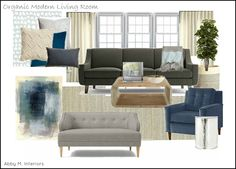 organic glam living room, with seating for the TV. Abby M. Interiors
