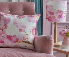 bluebellgray's Fumiko cushion and mini lampshade.
