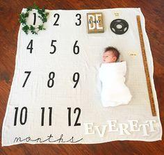Monthly milestone blanket! Etsy shop (BATZkids)