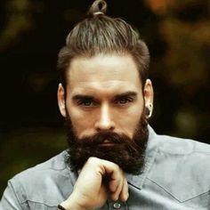 Top Knot with Beard