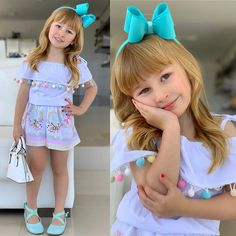 Trendy Outfits, Kids Outfits, Cute Outfits, Unique Fashion, Kids Fashion, Baby Kids Clothes, Sewing For Kids, Girls Wear, Little Princess