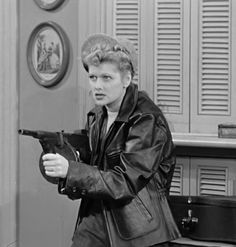 Lucy as a gangster in a very funny episode of I Love Lucy, 'The Kleptomaniac'