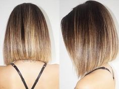 9 Simple Blunt Bob Hairstyles for Medium Hair - Frisuren Site Blunt Bob Hairstyles, Straight Hairstyles, Goth Hairstyles, Hairstyles 2016, Longer Bob Hairstyles, Concave Bob Hairstyles, Curly Haircuts, Ponytail Hairstyles, Trendy Hairstyles