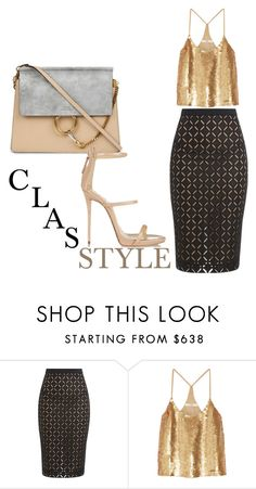 """""""nude"""" by msirenefaith on Polyvore featuring Roland Mouret, TIBI and Chloé"""