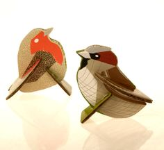 Sparrow and robin card A5 - Kidsonroof - BijzonderMOOI* Dutch design online