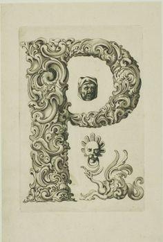 letter 'n' - proto-surrealist organic engraving
