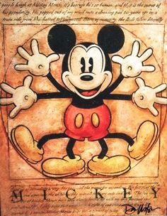 Vitruvian Mickey Mouse