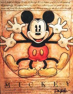Vitruvian Mickey Mouse