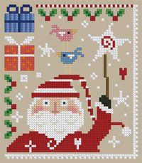 cute santa cross stitch