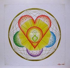 315 Heart Labyrinth, by Miekrea NL - Nov. 2009 (used: crayons and gold fineliner)