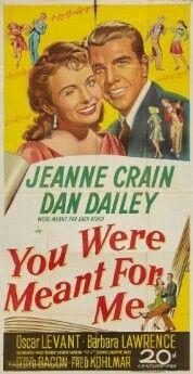 """de acuerdo con Shiela Graham, el papel de Marilyn Monroe terminó en la sala de montaje, pero en una escena de una cara que se parece a Monroe se encuentra entre los que reaccionan en una pista de baile llena de gente.  """"Playhouse del Director de la pantalla"""" transmitió una adaptación radiofónica 30 minutos de la película el 13 de marzo 1949 con Dan Dailey repitiendo su papel de la película. Le significaron para mí(1948)"""