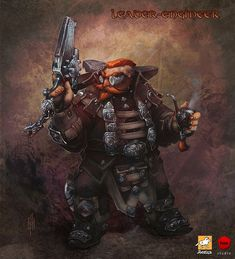 Leader-Engineer Picture  (2d, fantasy, dwarf, steampunk)