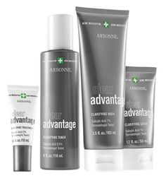 Clear Advantage Clarifying Set (great for teen acne and adult acne! This is what got me started with Arbonne in the first place! Love this stuff! It took my cystic acne away and it has never returned!)