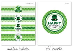 It's FREEBIE time!! If you're a long-time fan of HowDoesShe(which I hope you are!), you might recognize my St. Patrick's Day printable circles from last year. Well, they're back again this year, but this time, with lots of NEW coordinating items to match – water ...