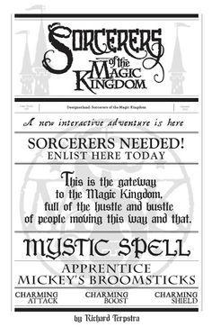 DesignerLand: Sorcerers of the Magic Kingdom Font Study