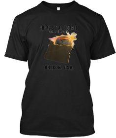 Oregon Total Solar Eclipse Tshirt Black T-Shirt Front