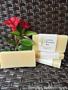 Luxurious Shampoo Bar Herbal Shampoo Soap Bar by SimpleLifeMom