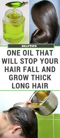 One Oil That Will Stop Your Hair Fall and Grow Thick Long Hair – Selftips.in