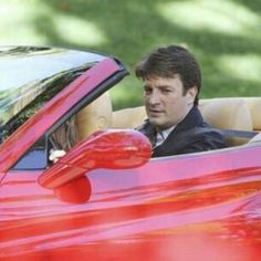 CASTLE, BECKETT AND HIS FERRARI  #Castle #CastleTV #CastleAndBeckett #Caskett #OTP #MyOTPisEngaged #RichardCastle #KateBeckett #DetectiveBeckett #Red #Hot #Sexy #WriterAndHisMuse #CrimeSolvingduo #BestTogether #NeverApart #CutePair #Funny #Cars #FastCars #Ferrari #CastlesFerrari #ToLoveAndDieInLA #StanaKatic #NathanFillion
