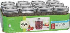 Home Brands 8-Oz Quilted Crys Canning Jar