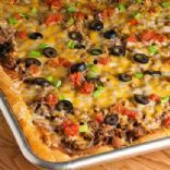 Taco Pizza with Reduced-Fat Crescent Rolls Recipe by SHASHEE71 | SparkRecipes