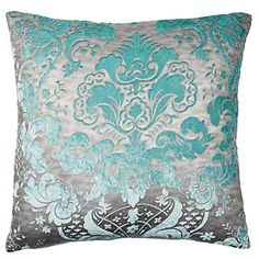 Juliette Pillows resemble the Victorian era with embossed antique fabric flocked with soft velvet. $59.95