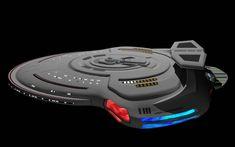 Uss - Leonidas by Hummakavuula on DeviantArt Spaceship Art, Spaceship Concept, Concept Ships, Spaceship Design, Vaisseau Star Trek, Starfleet Ships, Sci Fi Spaceships, Star Trek Series, Space Battles