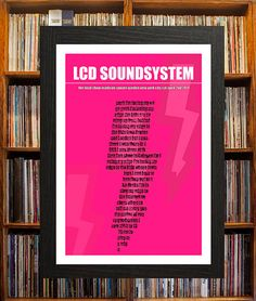 A poptart design, this LCD Soundsystem concert poster is available in either size A2 (59x42cms) or A3 (42x29cms).  This show at Madison Square Garden was intended to be the bands swan song. Filmed for the documentary Shut Up And Play The Hits, the band pl