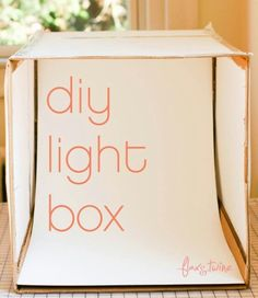 flax & twine: DIY Photo Light Box - A Finish Fifty Project - You're creative, you create new things every day, you sell them, want to show them. need better photos. So you need a Light Bo(Diy Photo Lighting) Photo Hacks, Photo Tips, Flatlay Instagram, Photo Light Box, Diy Light Box, Cool Pictures, Cool Photos, Beautiful Pictures, Technique Photo