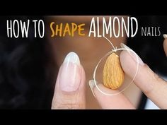 How to Shape Almond Nails Yourself! #abetweene #TUTORIAL