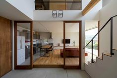 House in Ikoma by arbol. House in Ikoma is a minimalist residence located in Nara Japan designed by arbol. Shop Interior Design, Interior Design Inspiration, Interior Design Living Room, House Design, Interior Architecture, Interior And Exterior, Japanese Style House, Living Place, Japanese Interior