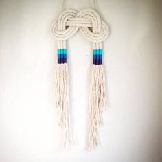 Knot wall hangings by Livie Rose designs.