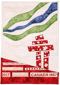 A unique Canadian wide block party in honour of Canada's Sesquicentennial birthday with blocks featuring icons and symbols of Canada. Small Quilt Projects, Quilting Projects, Sewing Projects, Quilting Ideas, Sewing Ideas, Sewing Crafts, Diy Projects, Flag Quilt, Quilt Blocks