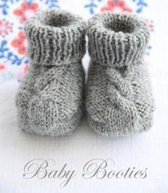 knitted baby booties free pattern on Ravelry