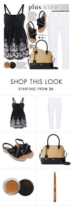 """""""Mother's Day Brunch Goals (plus size)"""" by beebeely-look ❤ liked on Polyvore featuring Jennifer Bryde, Kate Spade, Becca, Milani, sammydress, plussize, curvy and brunchgoals"""